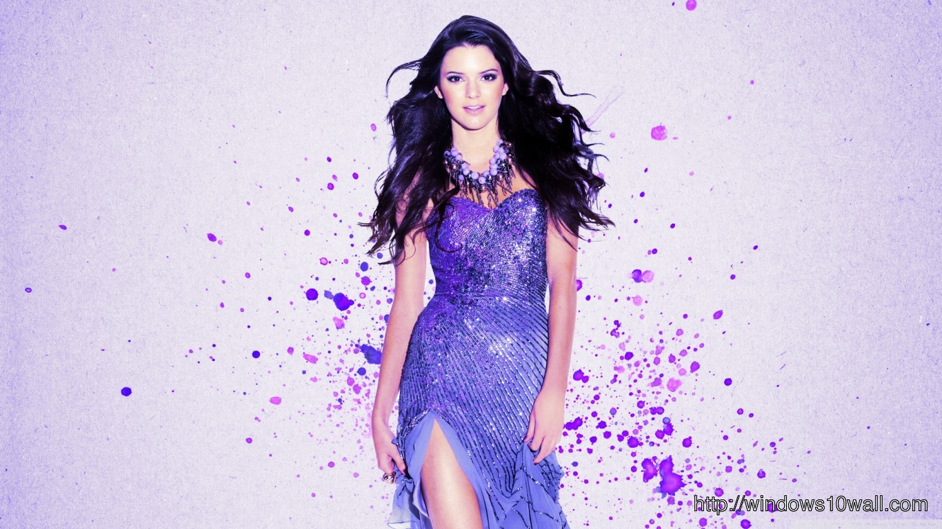 Kendall Jenner So Cool in Blue Dress Pic
