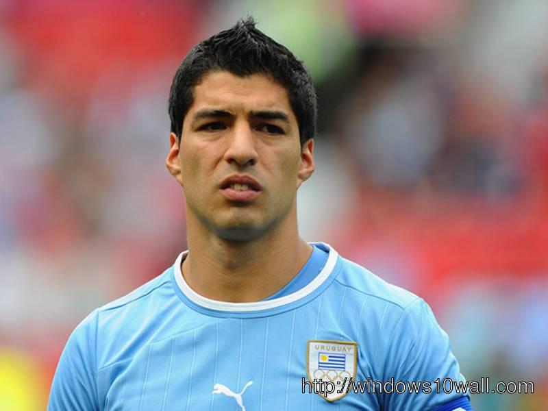 Luis Suarez in Blue T-Shirt
