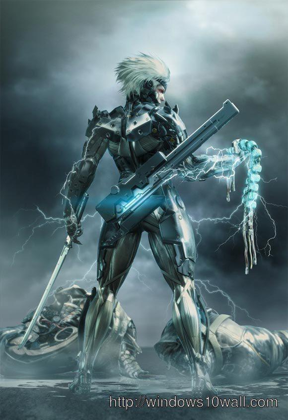 Metal Gear Solid Rising Raiden Mobile Wallpaper