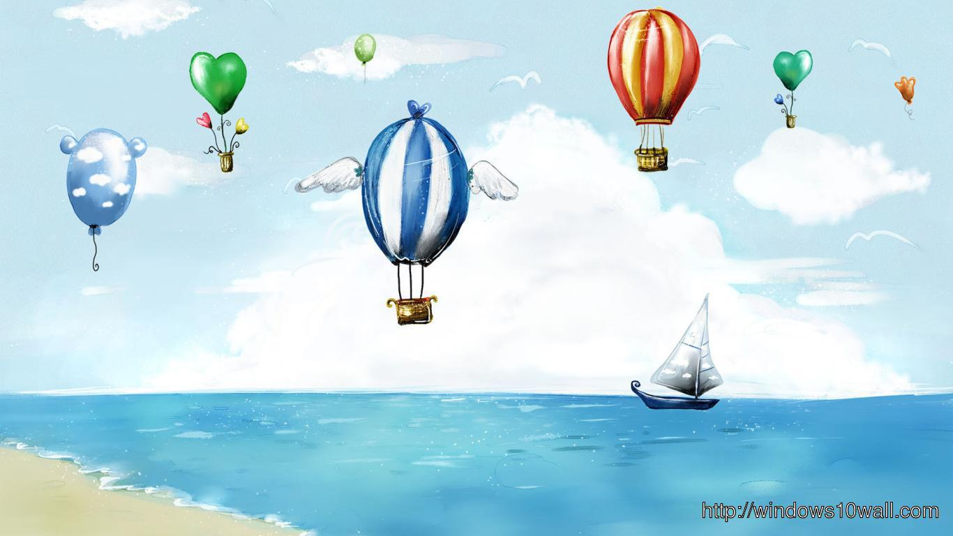 painting-snow-paint-balloon-hot-air-ship-boat-d-free-hd-Wallpaper