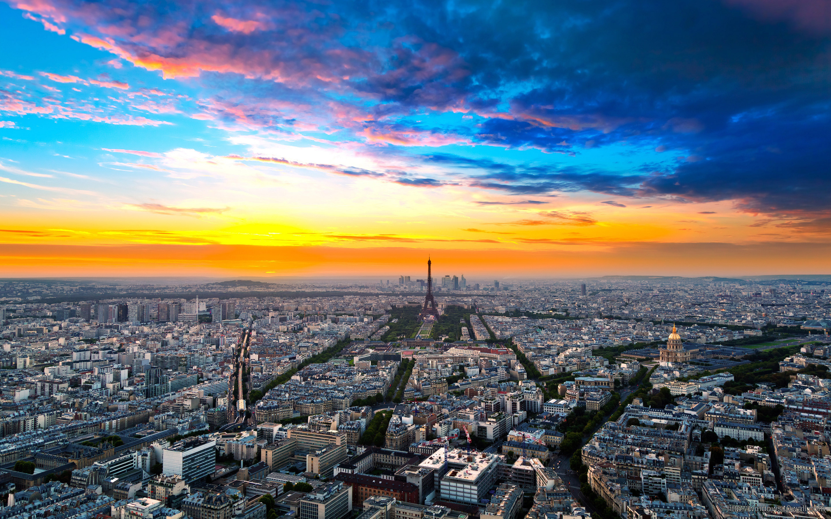 Paris Eiffel Tower Clouds Widescreen Hd Wallpaper
