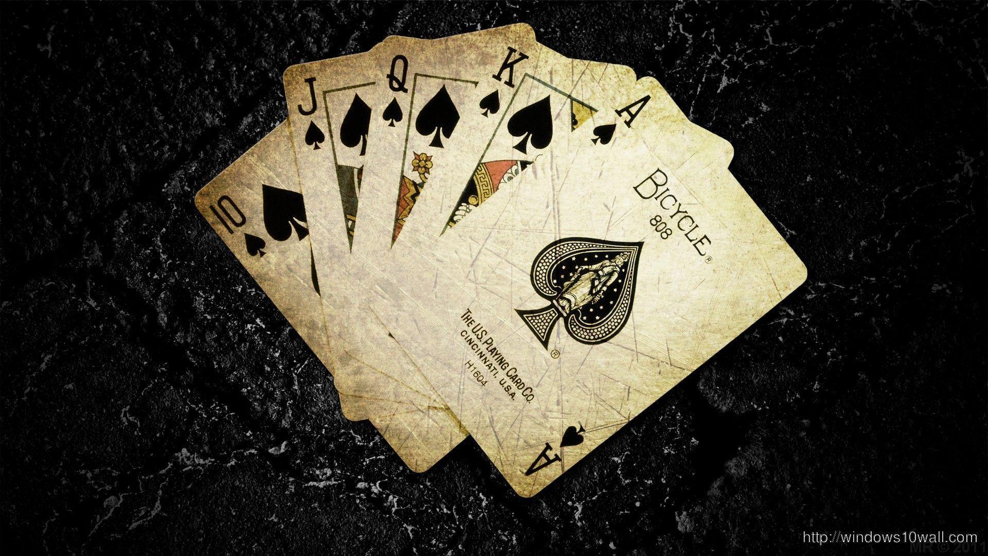 poker card hd wallpaper  windows 10 wallpapers