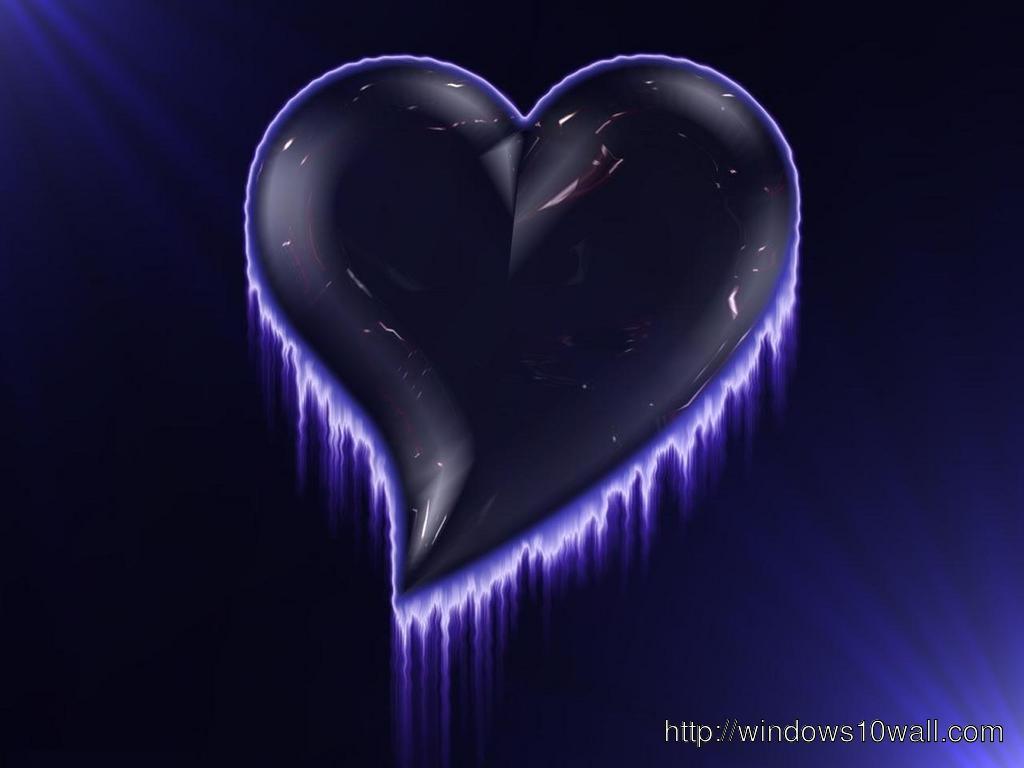 Purple Heart Hd Cool Wallpaper