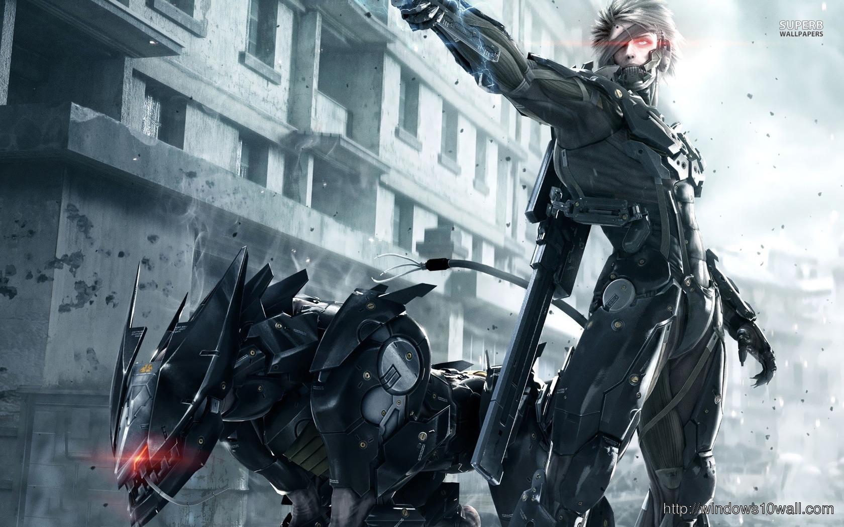 Raiden Metal Gear Rising Background Wallpaper