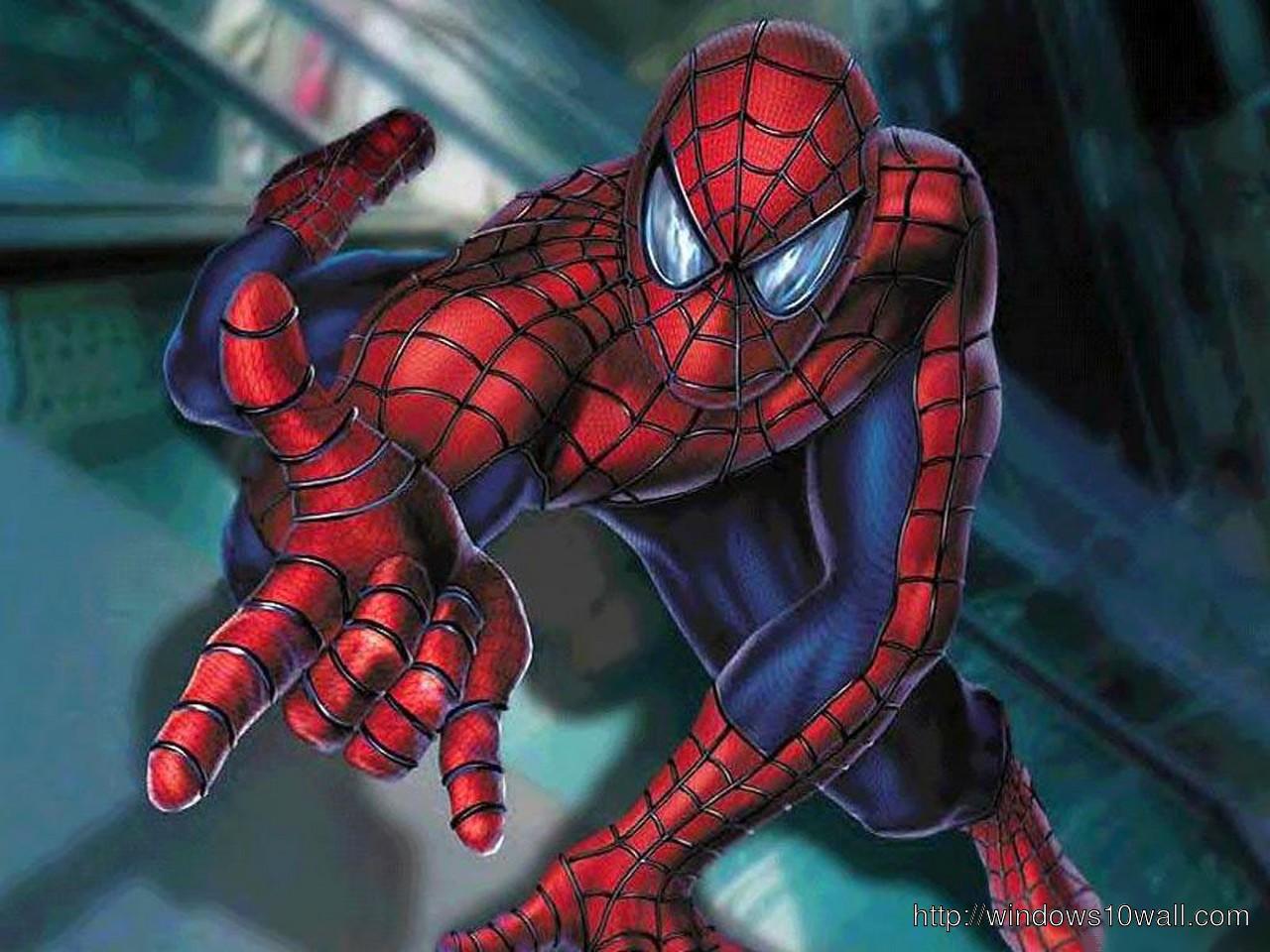 Spiderman In Action Wallpaper Windows 10 Wallpapers