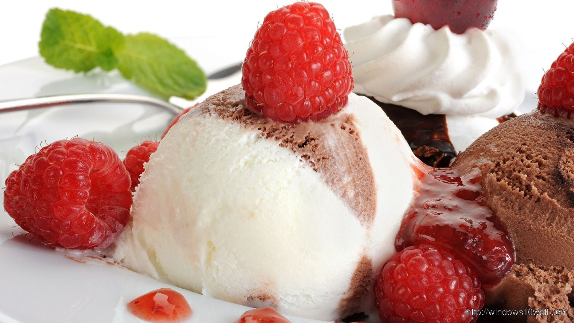 Strawberry Chocolate Ice Cream Hd 1080p Wallpaper ...