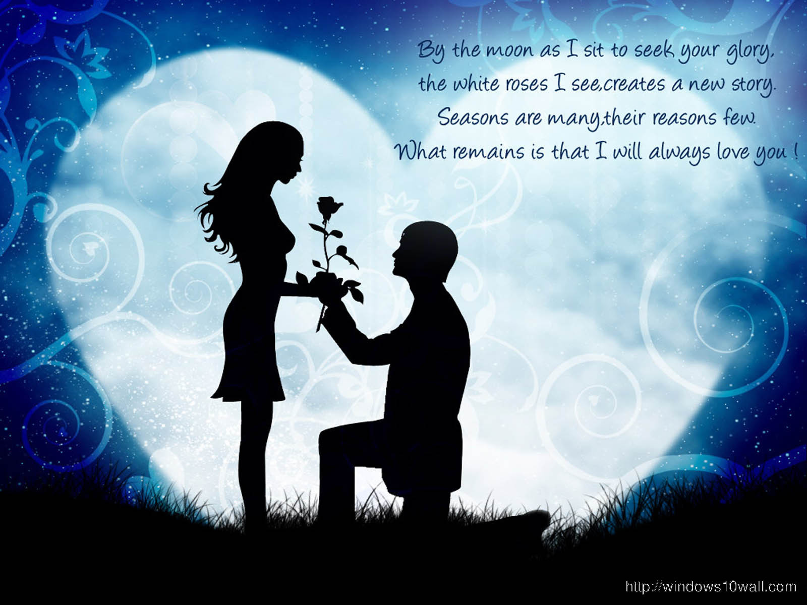 Sweet Love Couple with Quotes