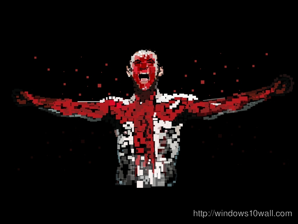 Wayne Rooney Awesome in Black Background Wallpaper