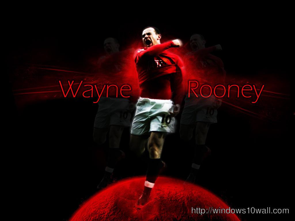 wayne rooney in black background wallpaper