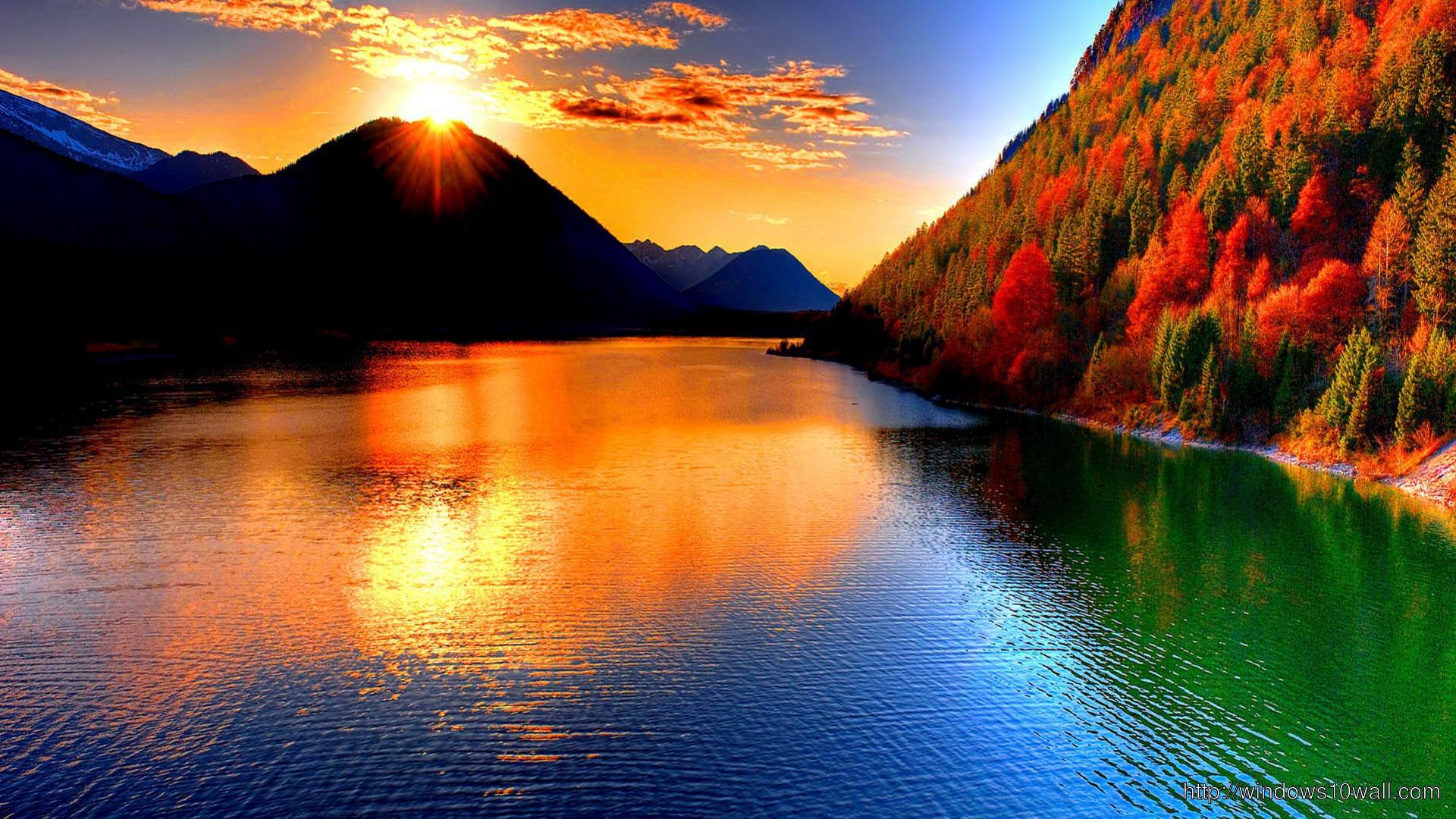 Beautiful Sunset Wallpaper Lake - windows 10 Wallpapers