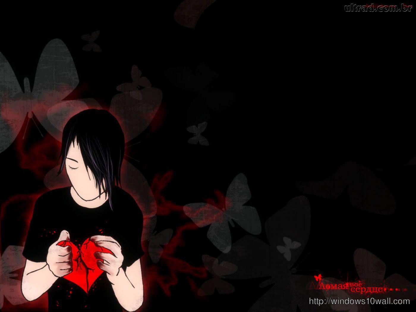 Broken Heart Dark Background