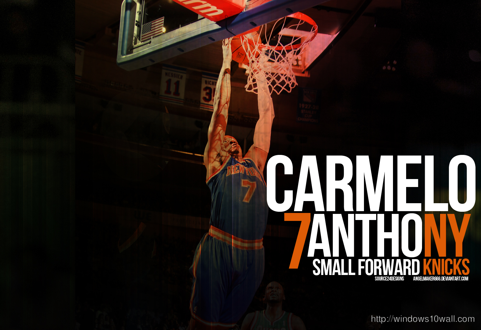 carmelo anthony knicks dunk background wallpaper windows