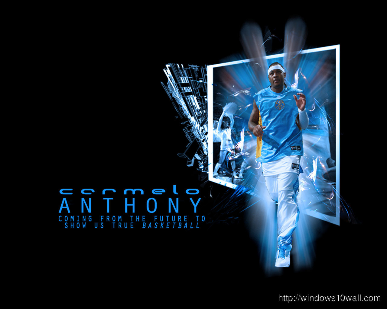 Carmelo Anthony Nuggets Background Wallpaper