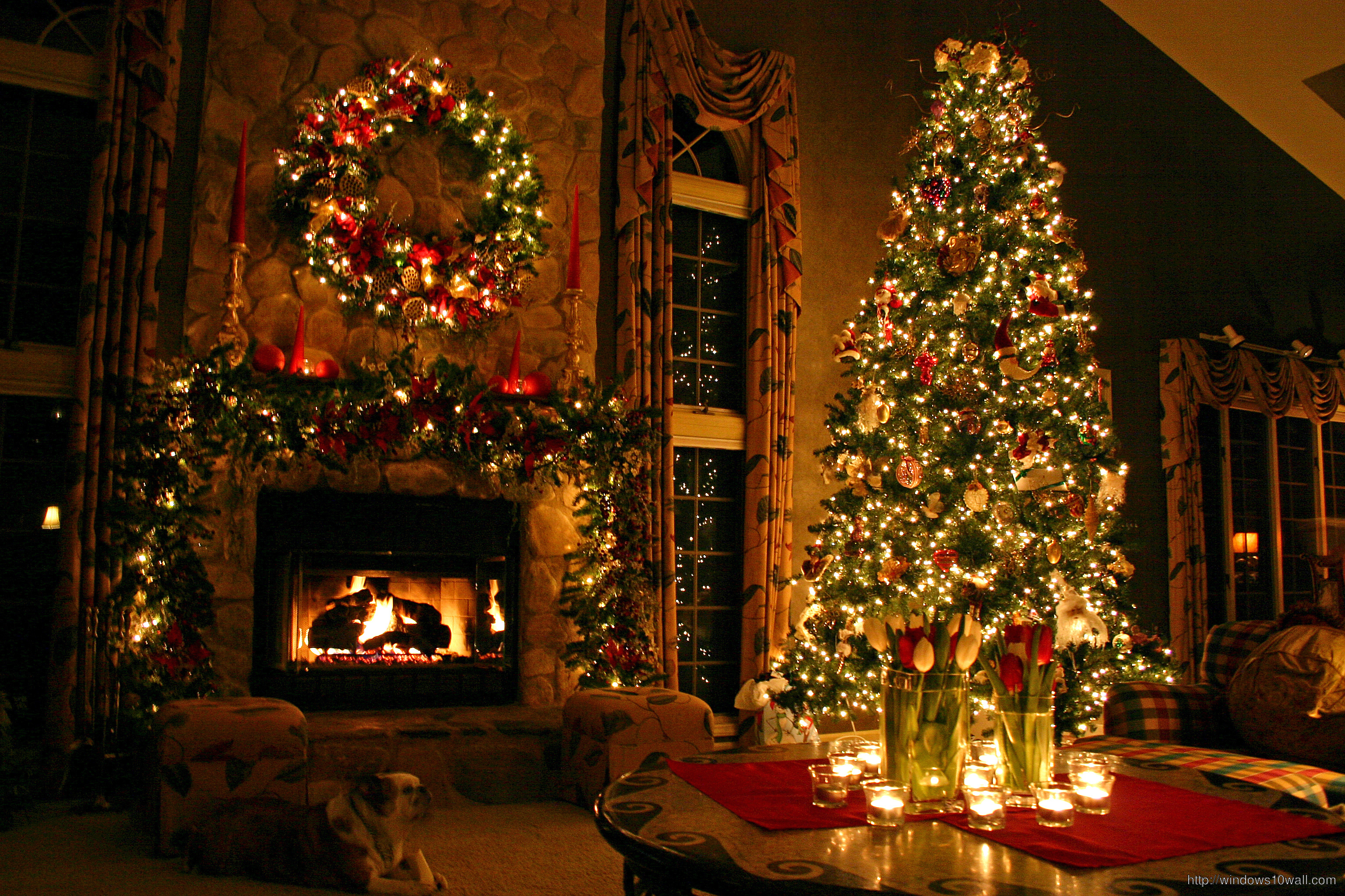 Digital Christmas Tree Wallpaper