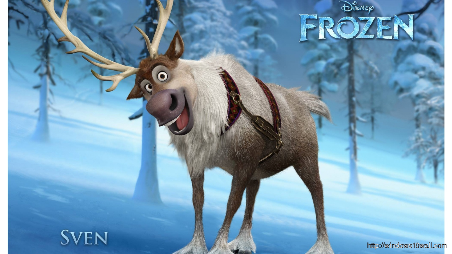 Frozen-Disney-Sven-Animation-Wallpaper