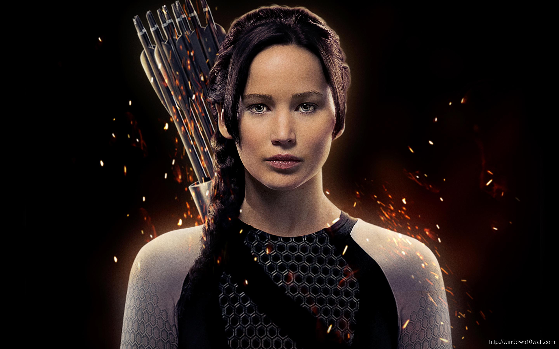 Jennifer Lawrence As Katniss Wallpaper
