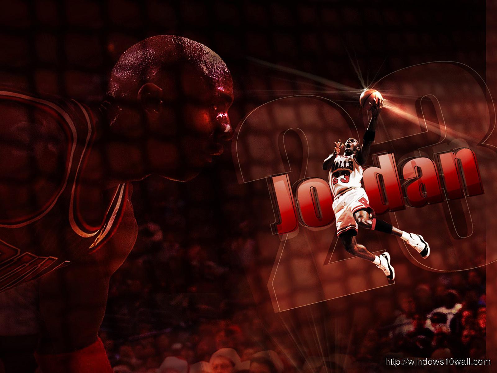 Michael Jordan Dunk Hd Background Wallpaper Windows 10