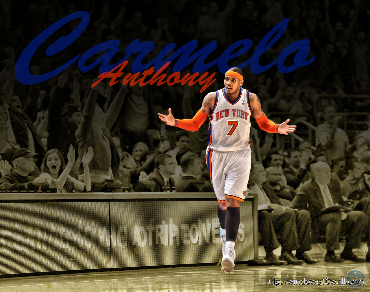 New Carmelo Anthony HD Background Wallpaper
