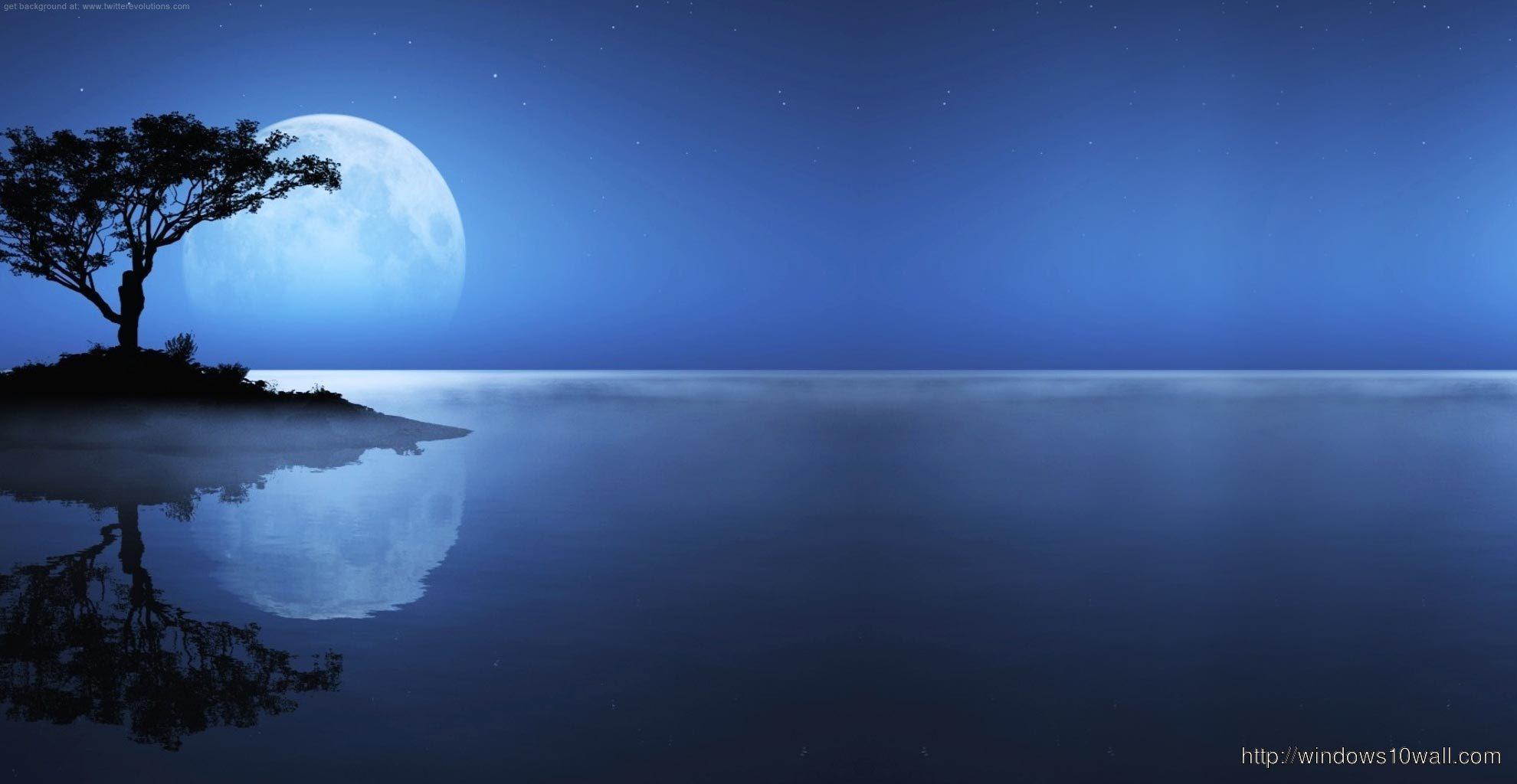 Night Moon Background Wallpaper