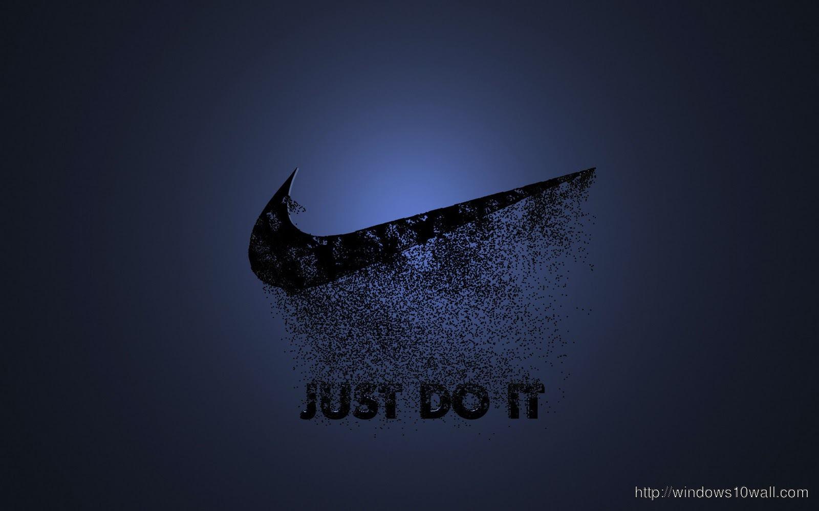 Nike Logo Dark Blue Wallpaper