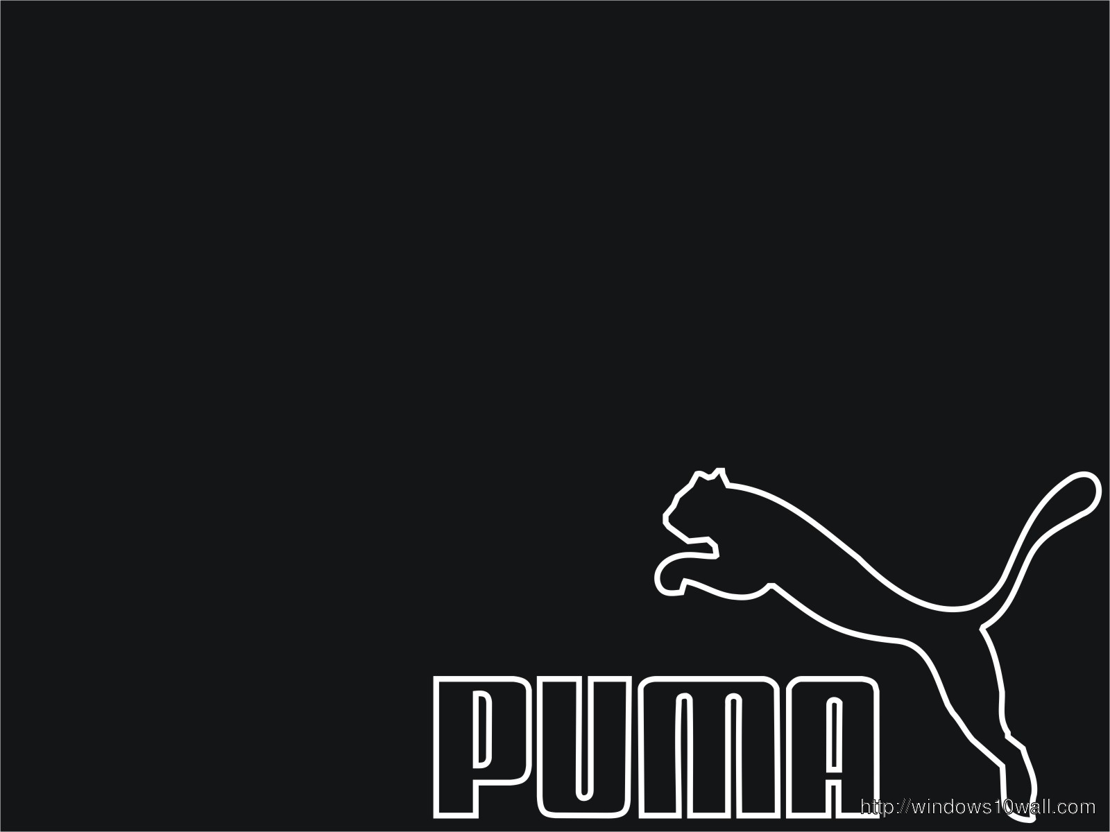 Puma-Logo-Black-and-white-Wallpaper