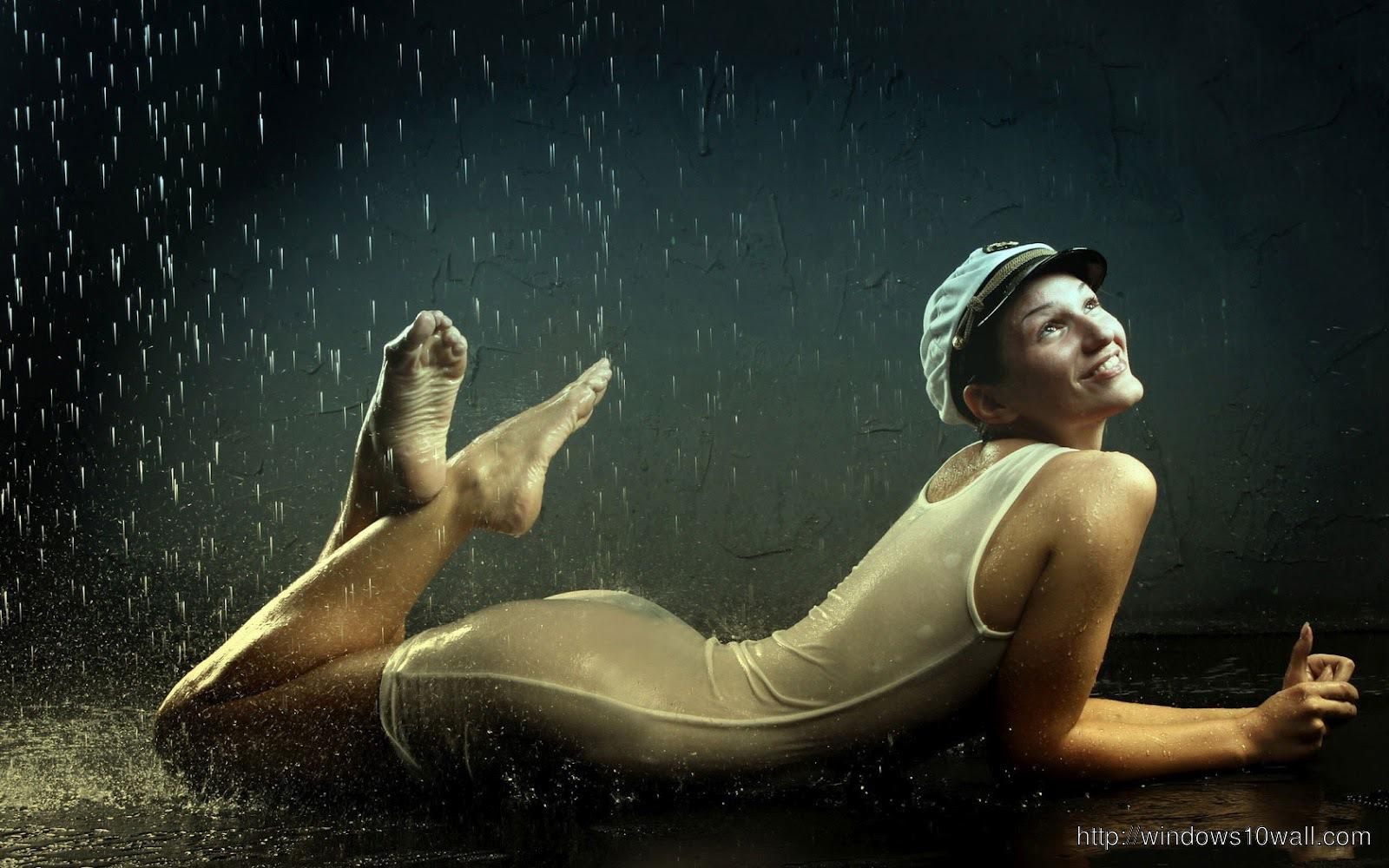 Rain-Smile-Girl-Wallpaper