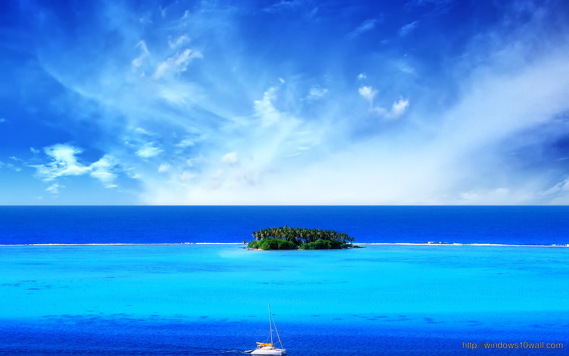 Summer Blue Sea Windows 10 Wallpapers