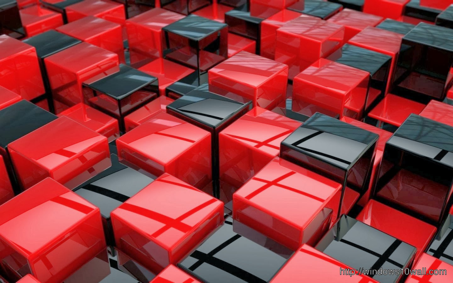 Abstract Background Wallpaper Cube Black And Red - windows