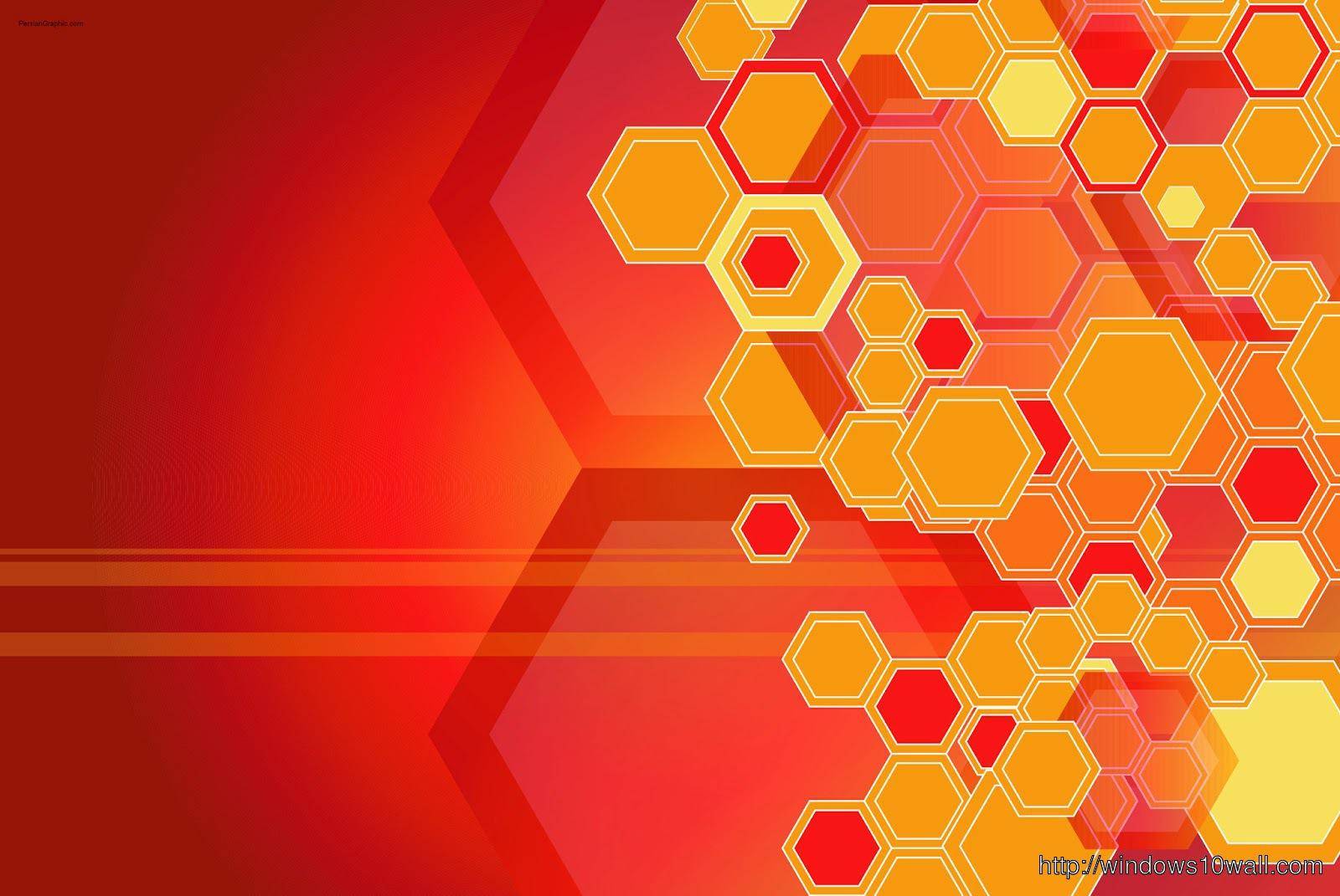 abstract-Background-Wallpaper-orange-hexagon
