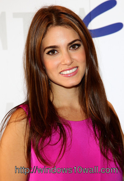 Actress Nikki Reed in Pink Dress Mobile Photo