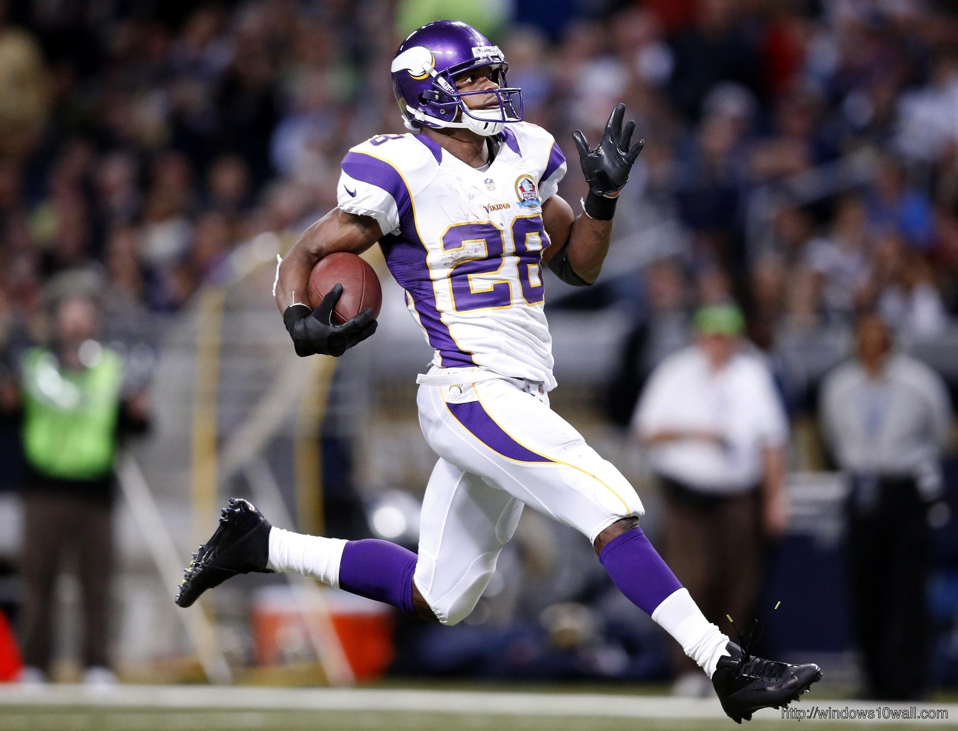 Adrian Peterson Running
