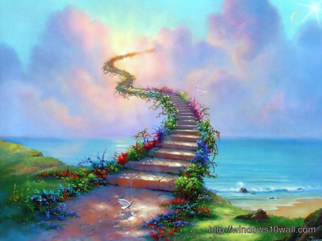 Amazing Stairs to Heaven Wallpaper