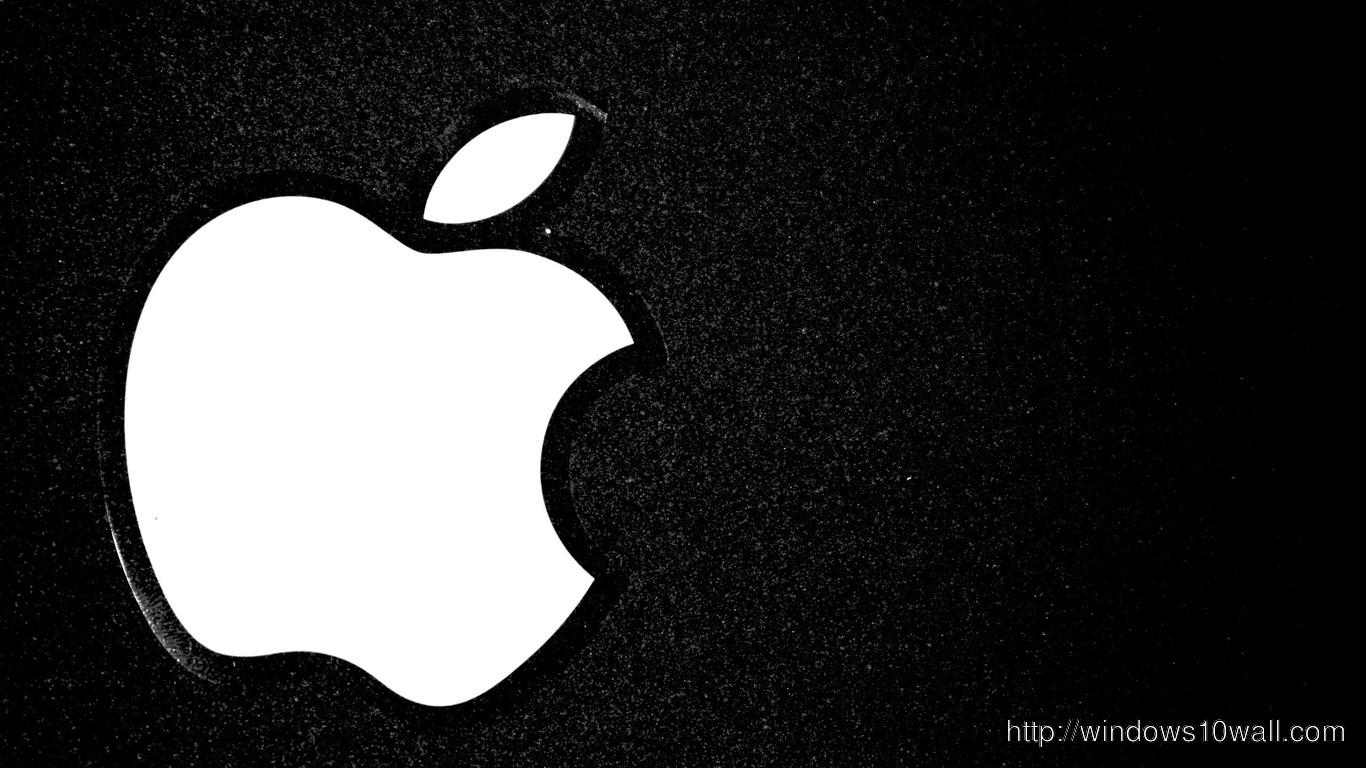 Apple Logo Black And White Wallpaper