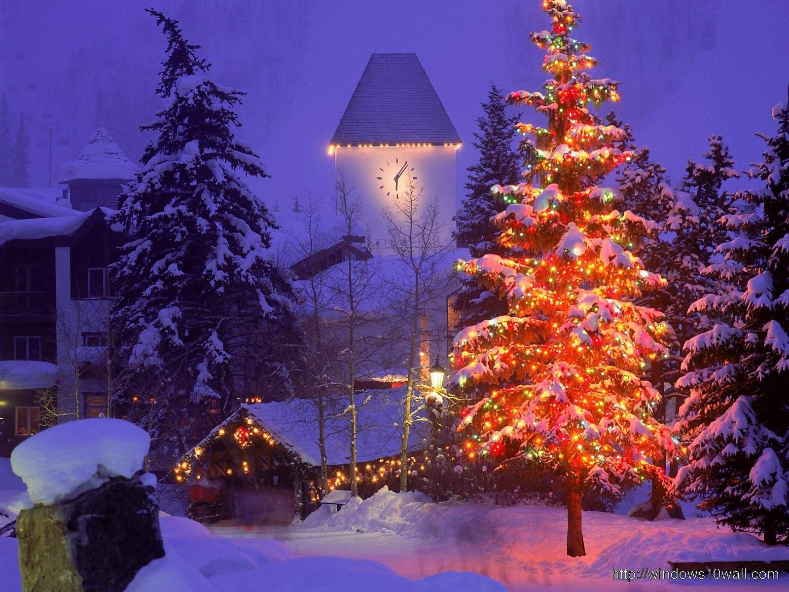 Aspen Colorado Christmas Travel Wallpaper