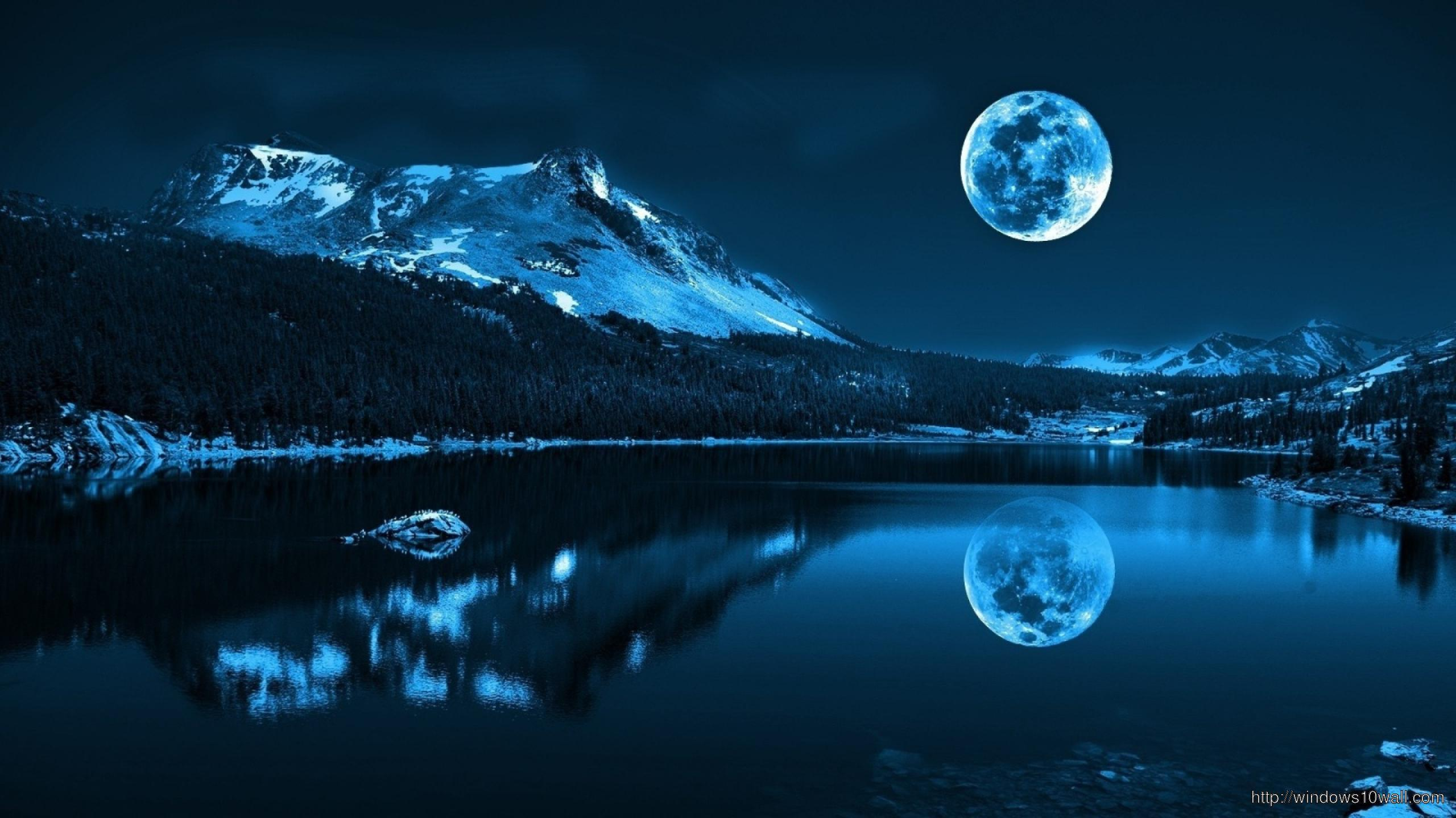 Awesome Super Moon Background Wallpaper