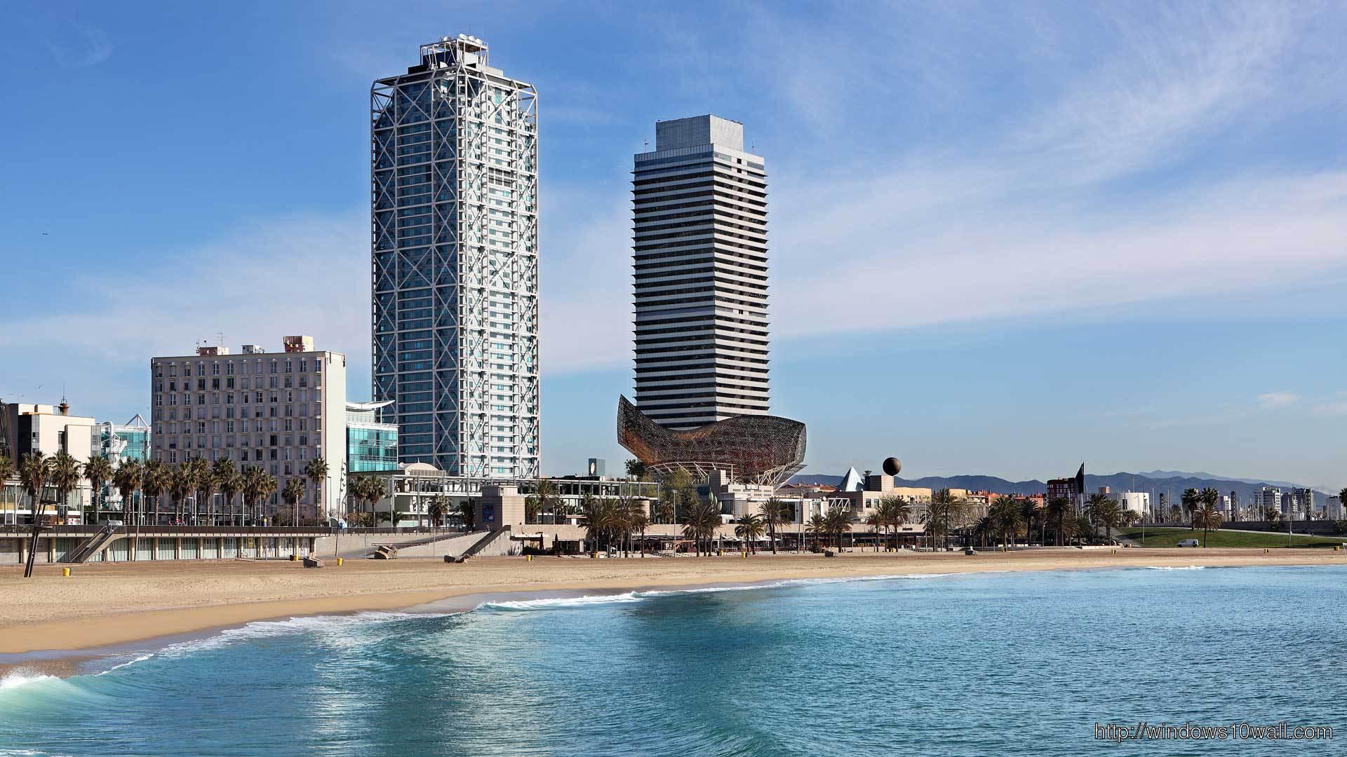Barcelona Beach Hotels Travel Wallpaper
