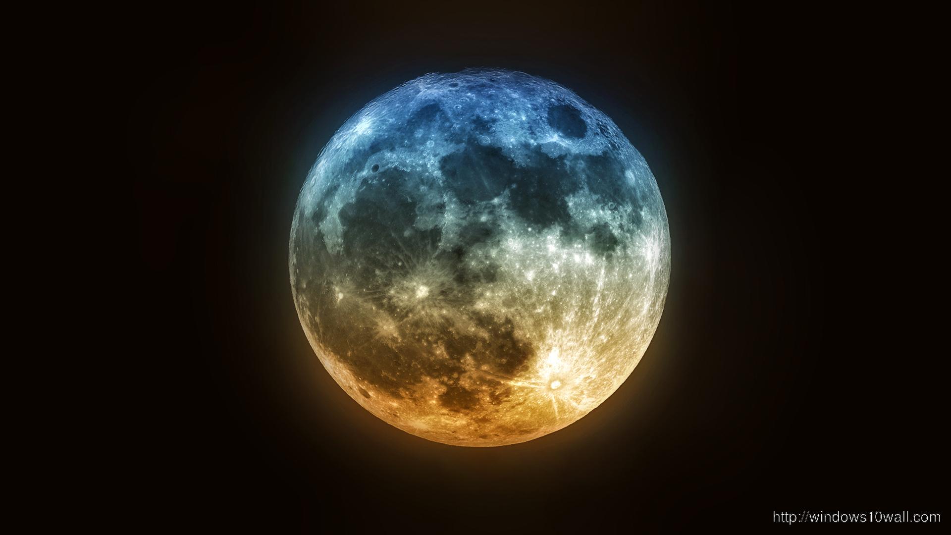 Beautiful Super Moon Background Wallpaper