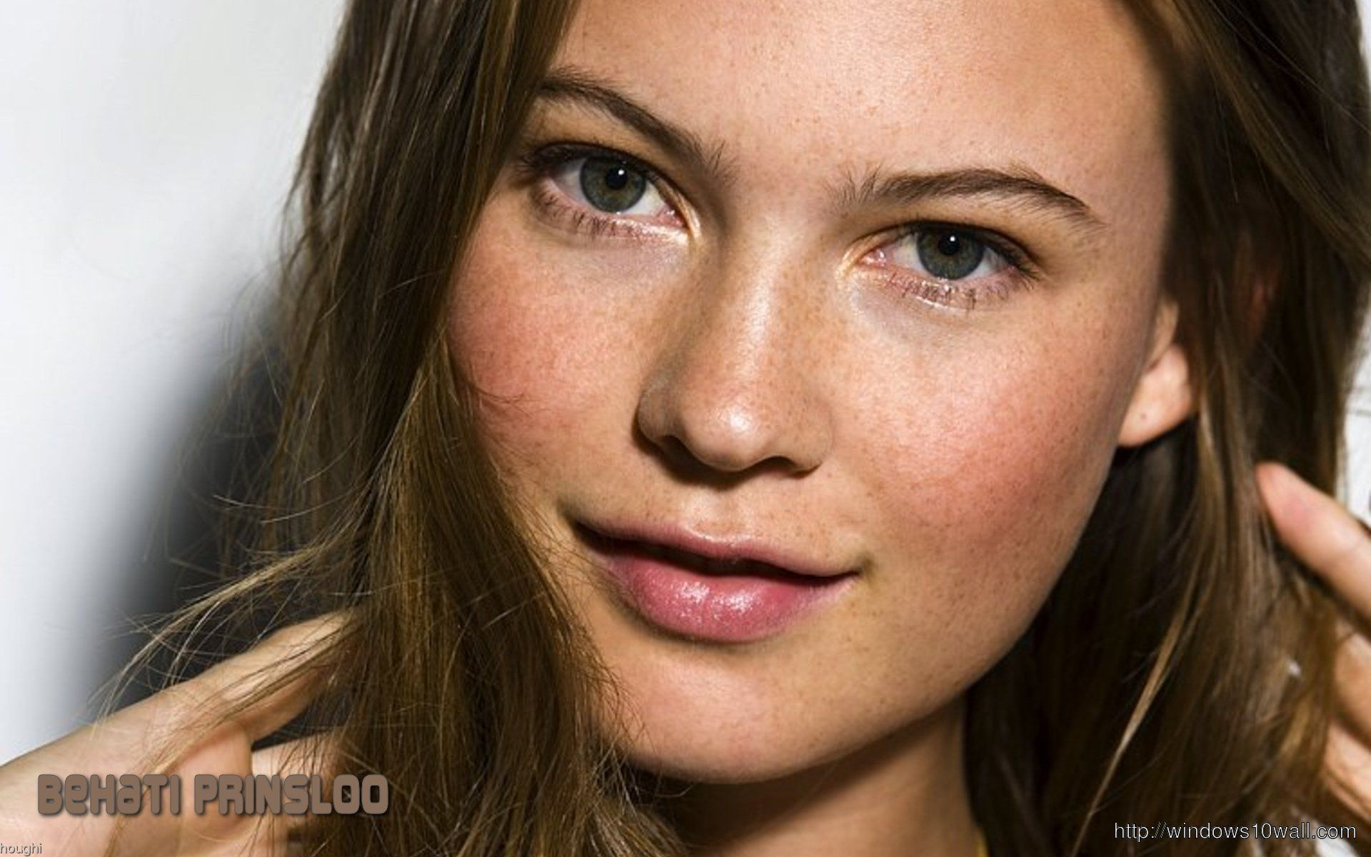 Behati Prinsloo CloseUp Background Wallpaper