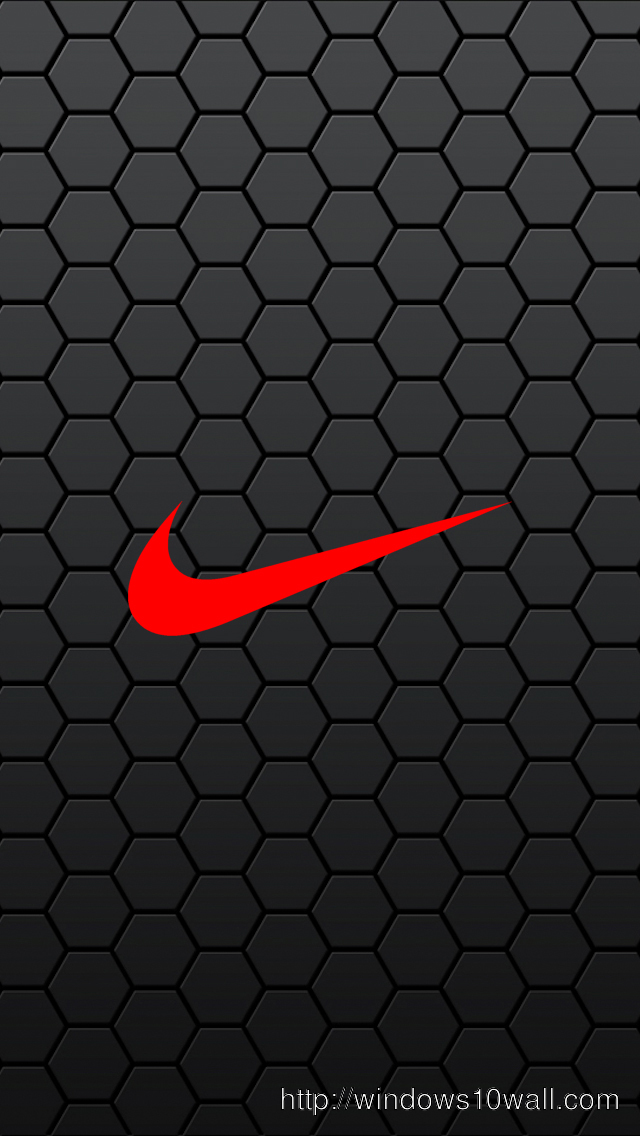Black Nike Hexagon Mobile iPhone Wallpaper