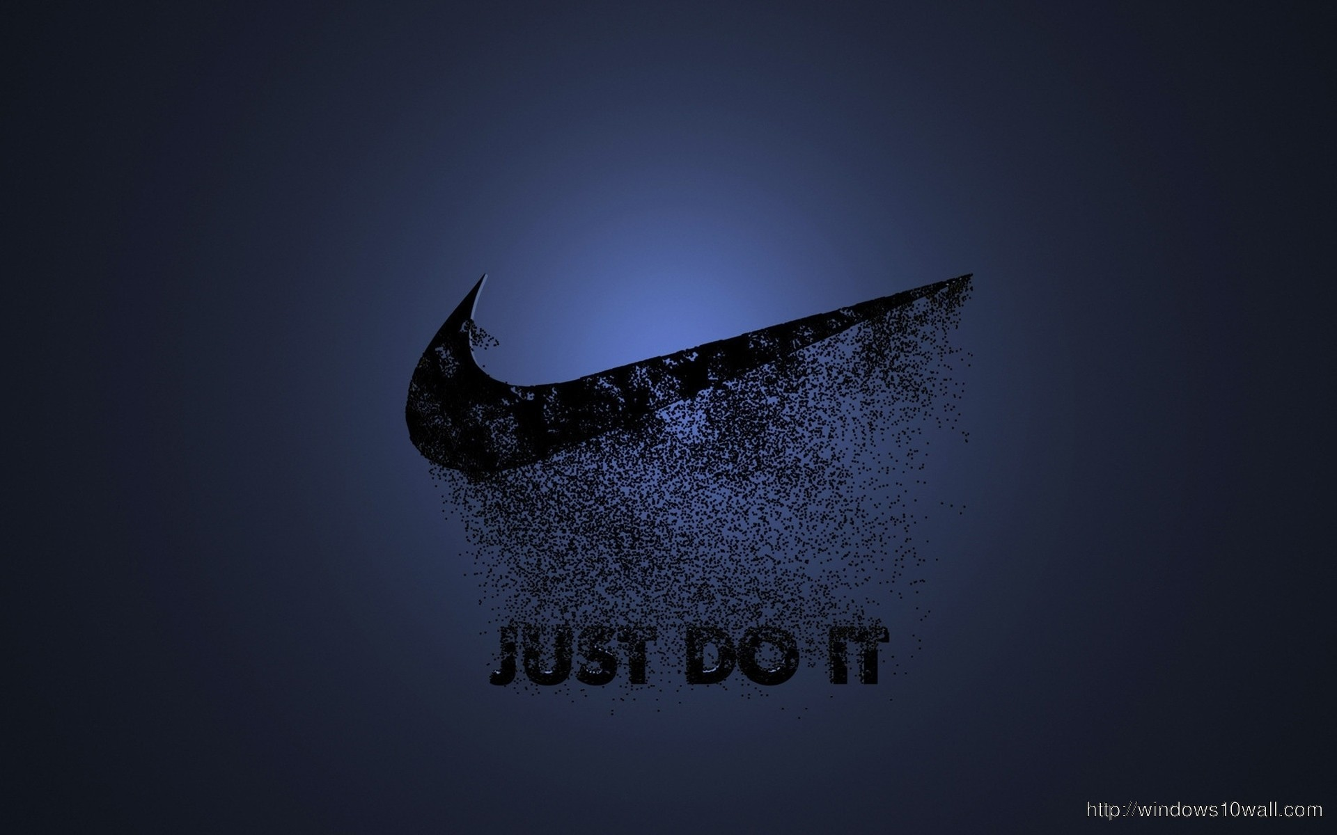 Black Nike Just Do It Blue Background Wallpaper Windows 10 Wallpapers