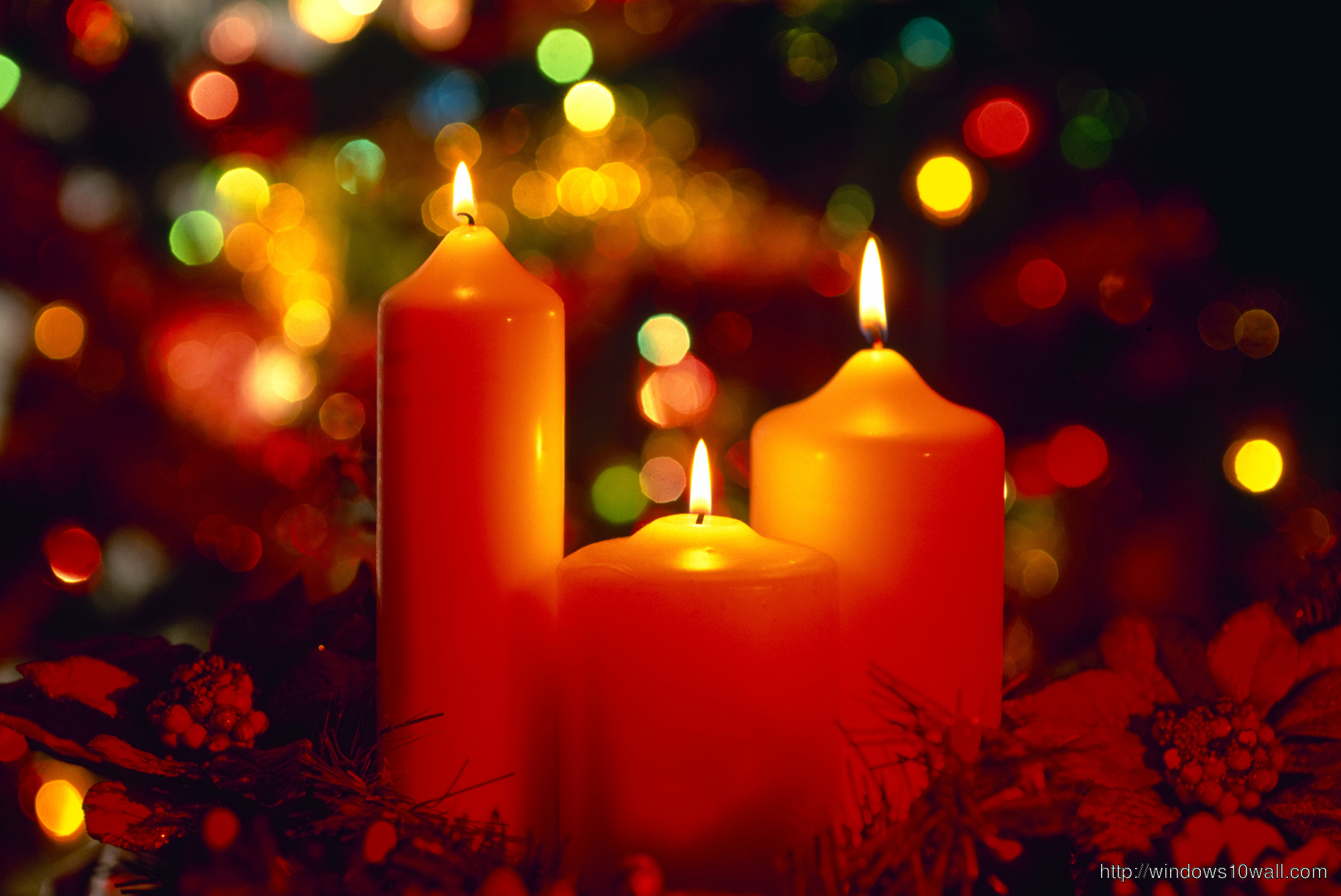 Christmas Candles Lit England Windows 10 Wallpapers