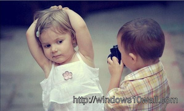 cute baby couples wallpaper taking photo