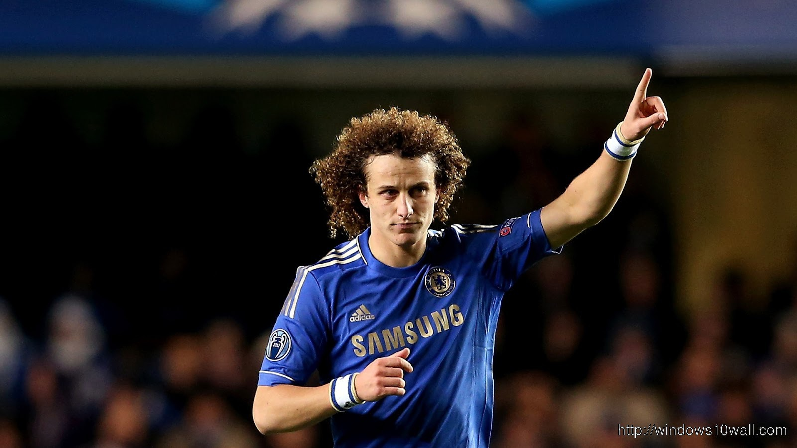 David Luiz after Goal Wallpaper