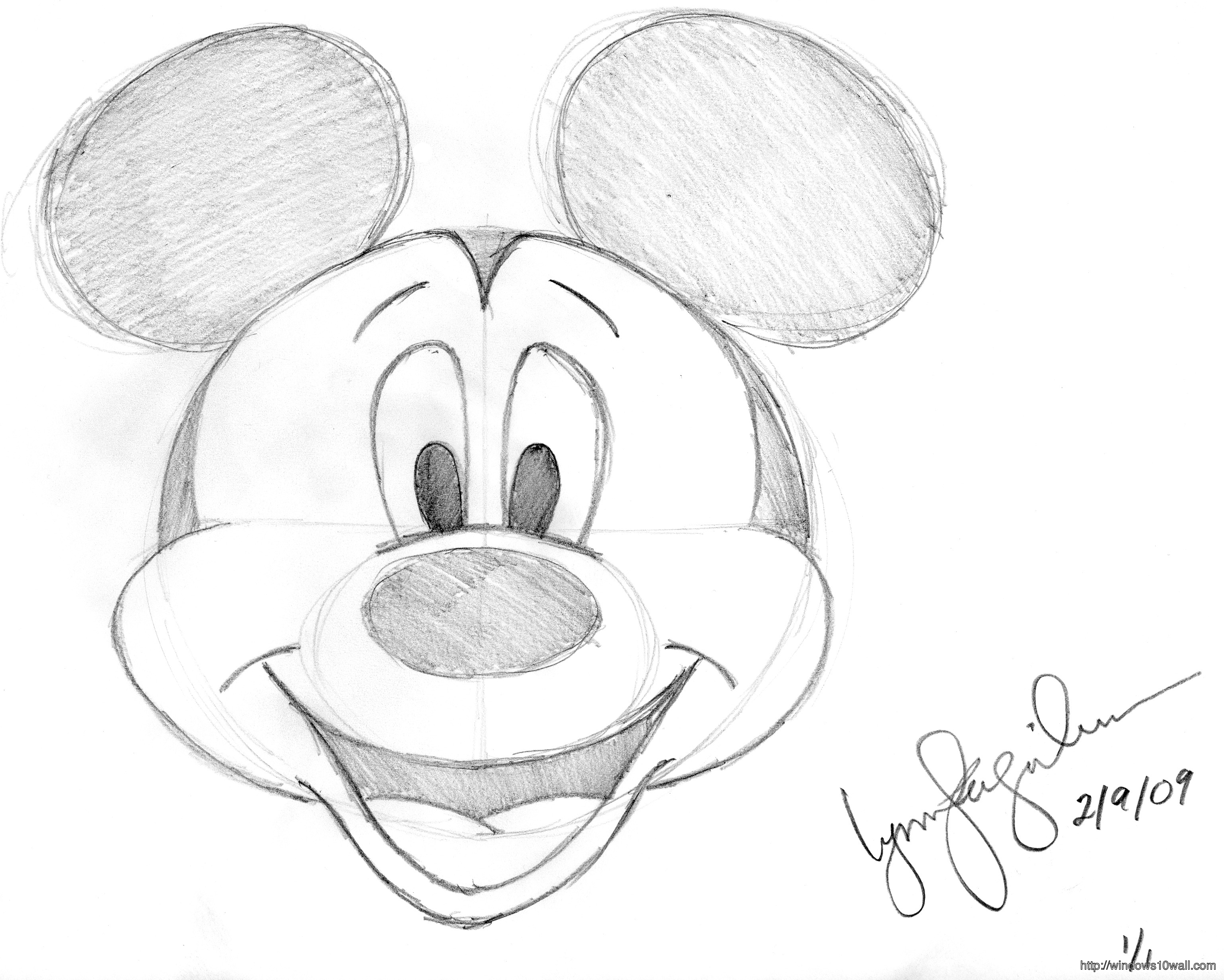 Disney Mickey Mouse Drawings Wallpaper