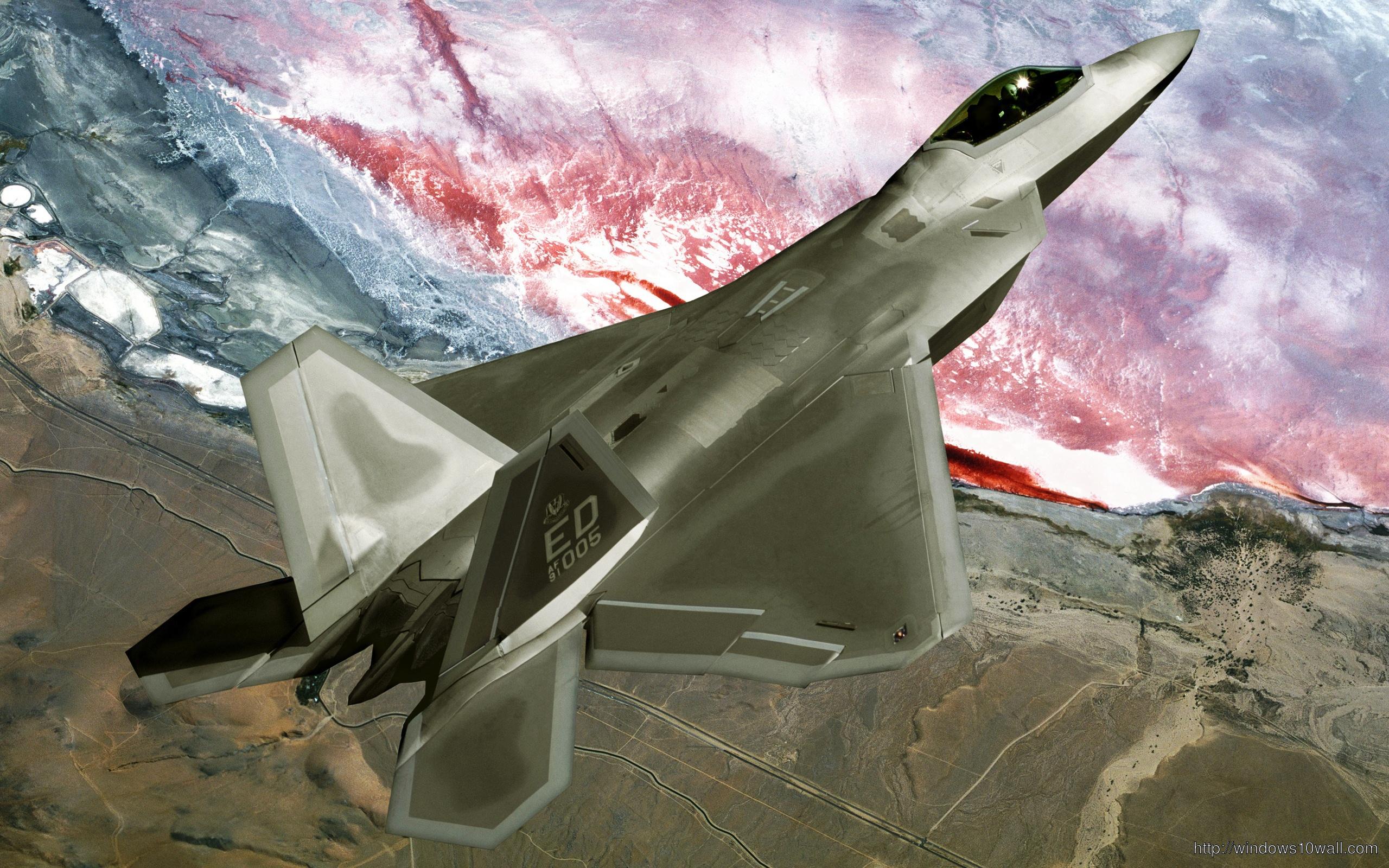 F22 Raptor Fly Over Plane