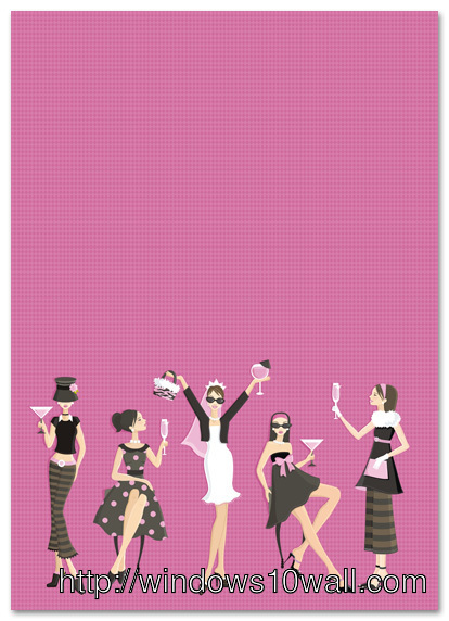Glamour Bachelorette Party Mobile Wallpaper