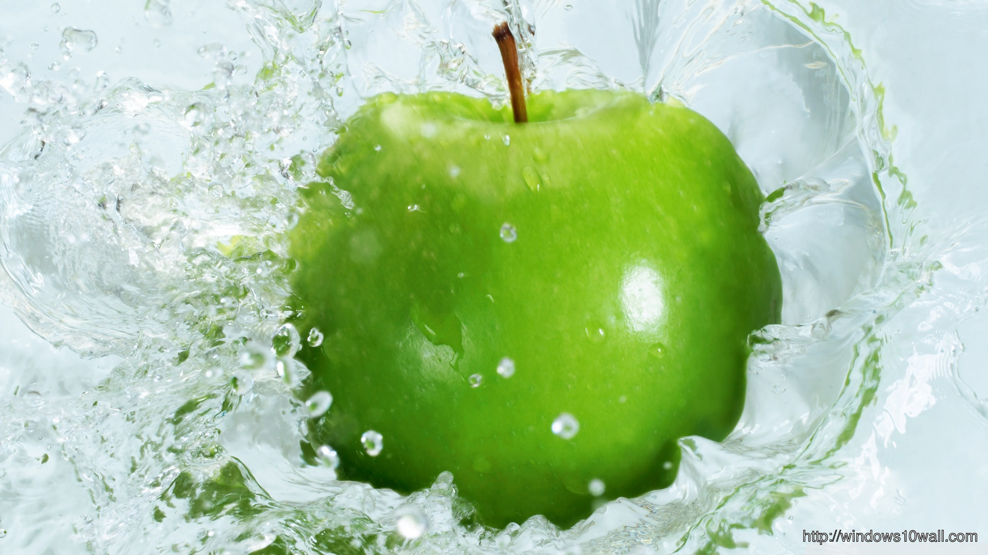 Green Apple Splash Wallpaper ⋆ Windows 10 Wallpapers
