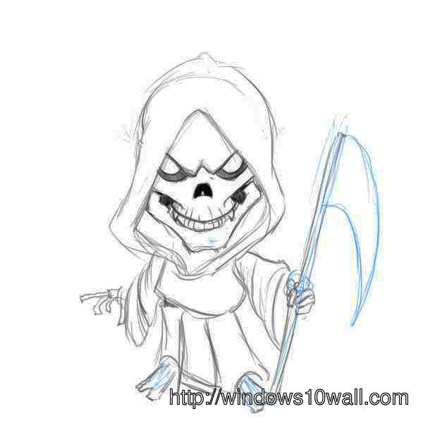 Grim reaper drawing wallpaper