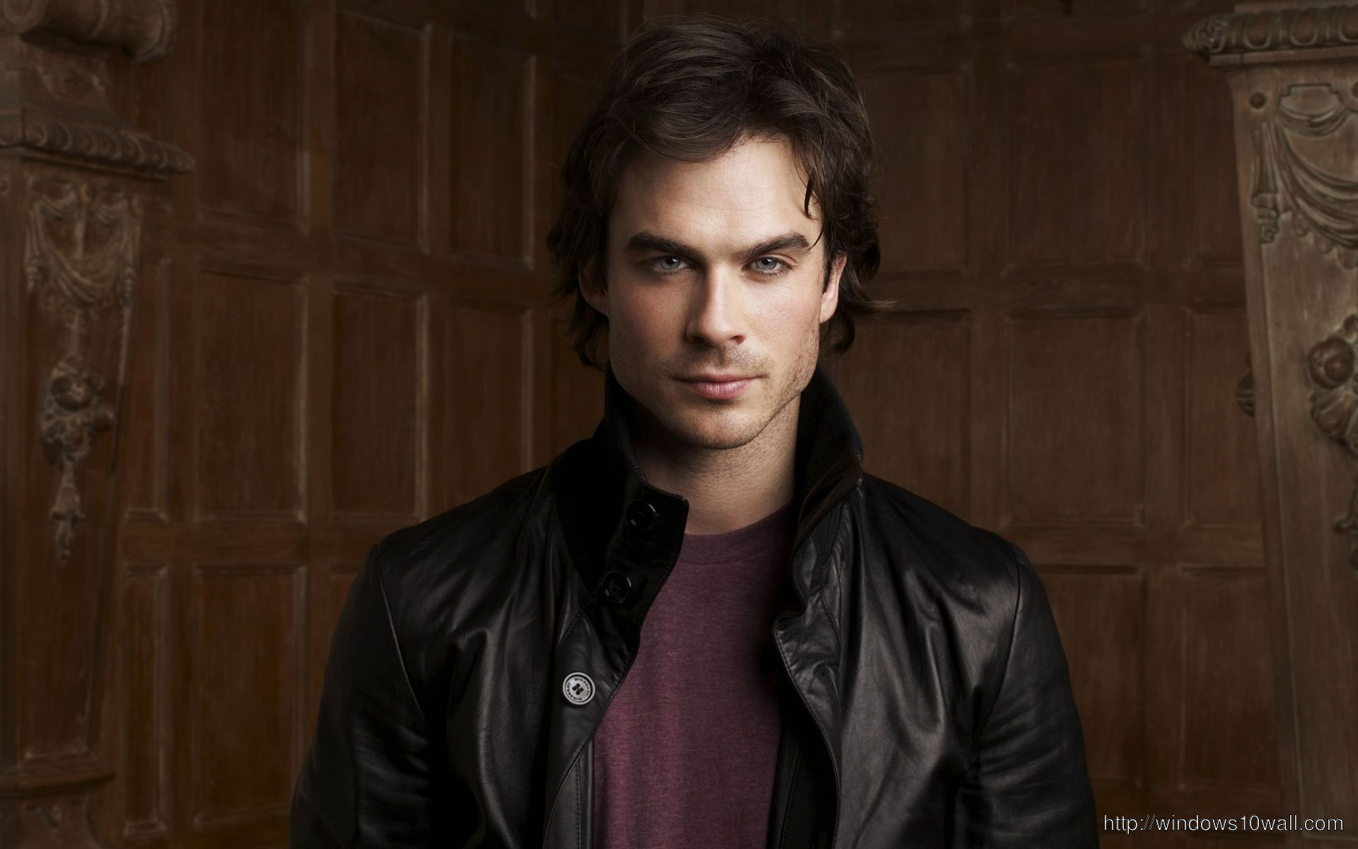 Ian Somerhalder Brown Background Wallpaper