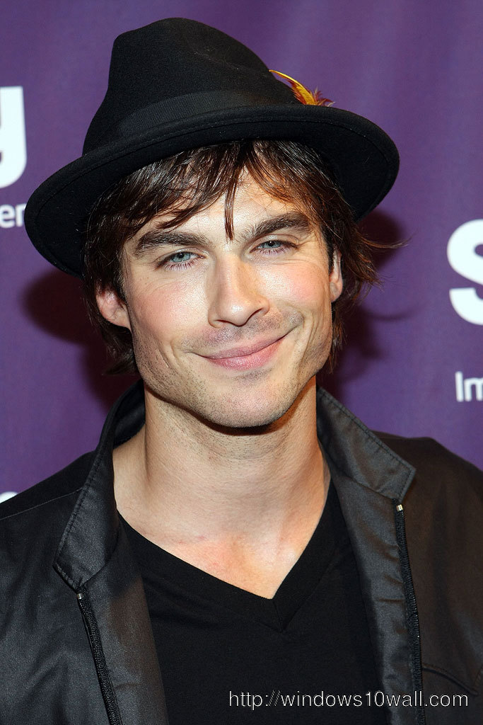Ian Somerhalder Smile Mobile Wallpaper